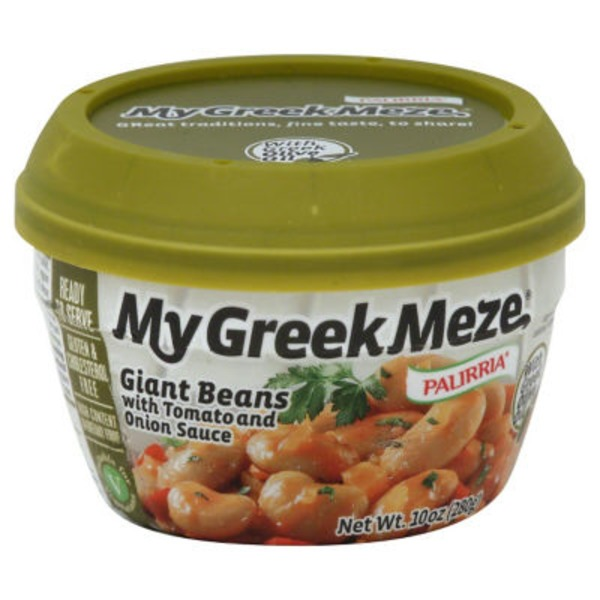 My Greek Meze Giant Beans, with Tomato and Onion Sauce, Cup