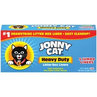 Jonny Cat Heavy Duty Jumbo W/Drawstring Litter Box Liners