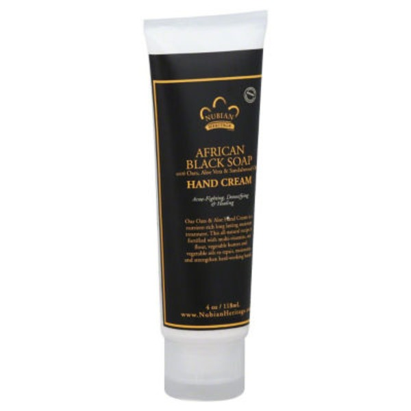 Nubian Heritage Hand Cream, African Black Soap, Tube