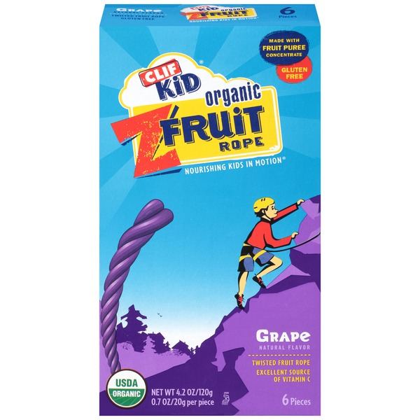 Clif Kid® Organic Grape ZFruit Rope