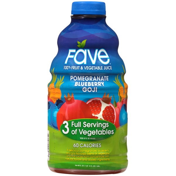 Fave Pomegranate Blueberry Goji 100% Fruit & Vegetable Juice