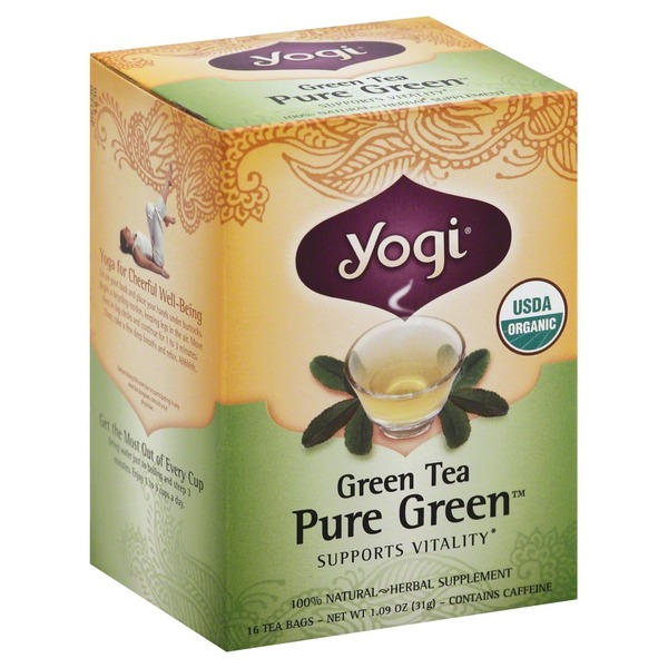 Yogi Organic Green Tea Pure Green