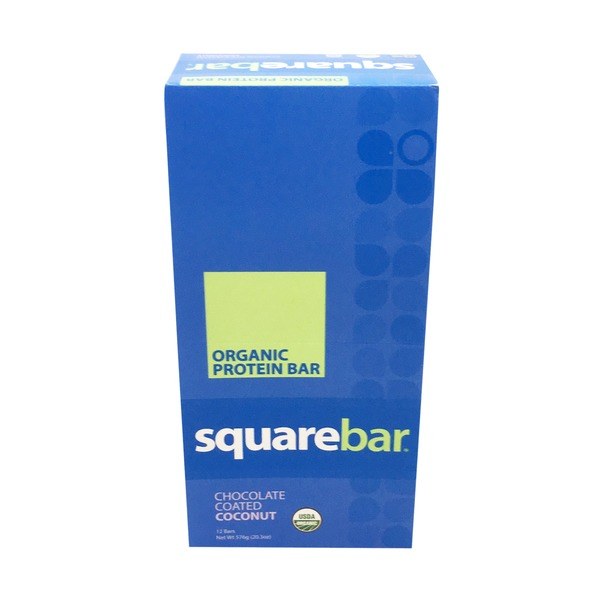 Squarebar Chocolate Coated Coconut Protein Bar