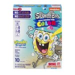 Betty Crocker Fruit Snacks, SpongeBob SquarePants Snacks, 10 Pouches, 0.8 oz Each, 0.8 OZ