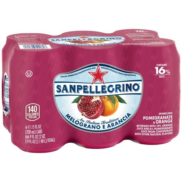 San Pellegrino Melograno e Arancia Sparkling Pomegranate & Orange Beverage