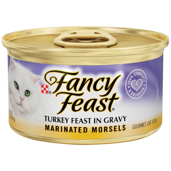 Fancy Feast Wet Marinated Morsels Turkey Feast in Gravy Cat Food