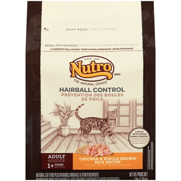 Nutro Hairball Control Adult Chicken & Whole Brown Rice Recipe Cat Food