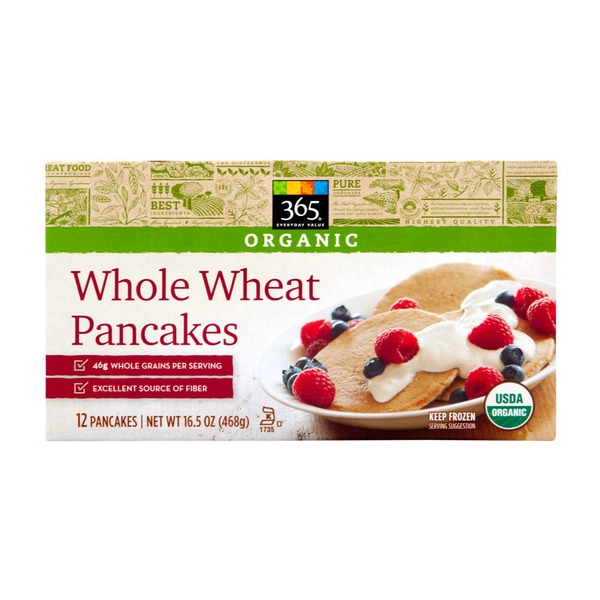 365 Organic Whole Wheat Pancakes