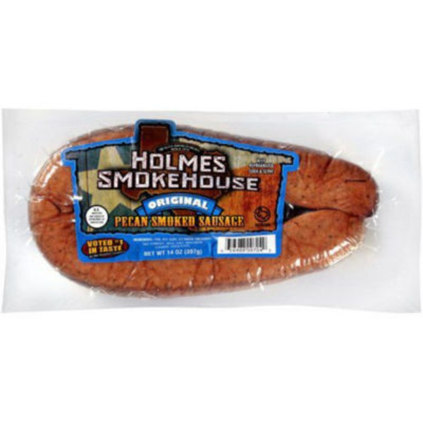 Holmes Smokehouse Original Pecan Smoked Sausage Ring