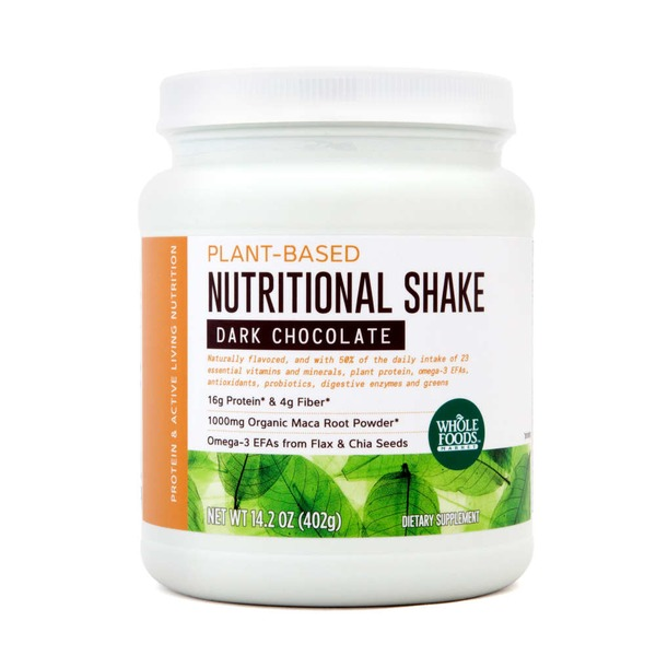 Whole Foods Market Plant-Based Nutritional Shake Dark Chocolate