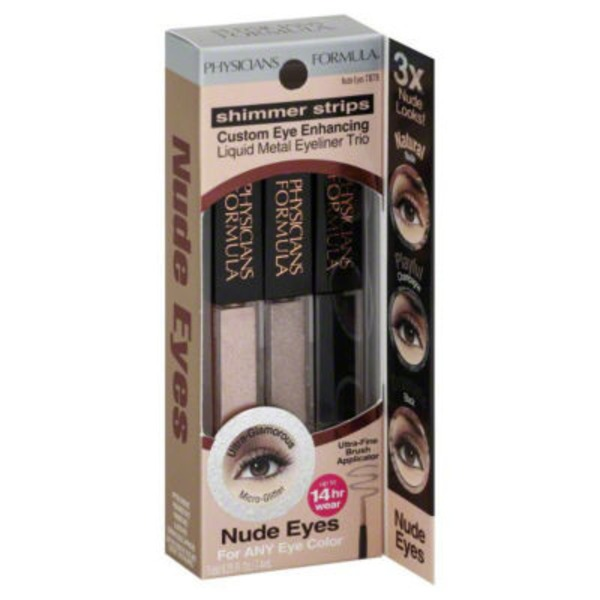Shimmer Strips 7878 Nude Eyes Metal Custom Eye Enhancing Liquid Eyeliner Trio