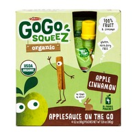 GoGo Squeez Organic Applesauce On The Go Apple Cinnamon