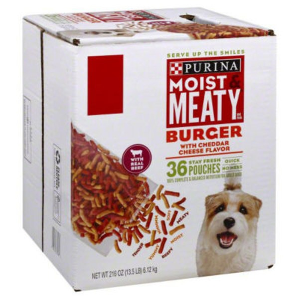 Moist & Meaty Burger with Cheddar Cheese Flavor Dog Food