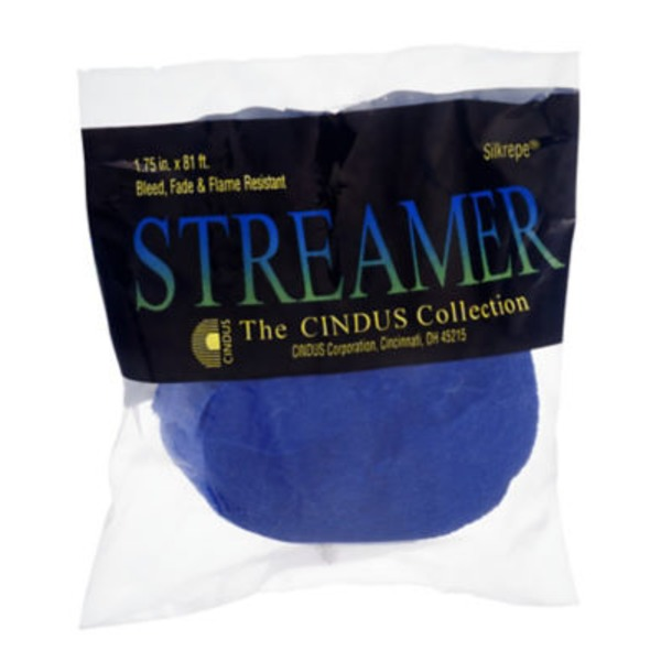 Silkrepe Streamer Royal Blue