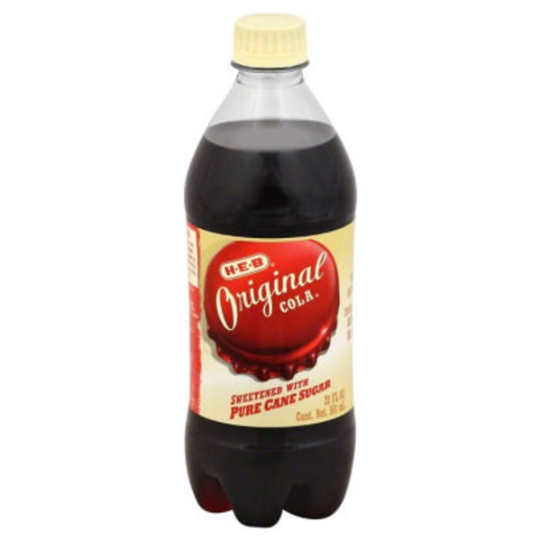 H-E-B Original Pure Cane Sugar Soda Cola