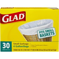 Glad Garbage Bags Small - 30 CT