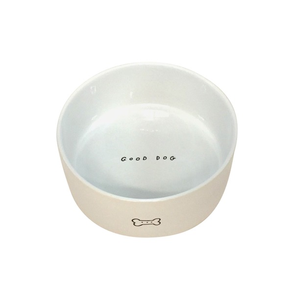 Hrmy Ceramic Good Dog Dog Bowl