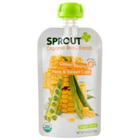 Sprouts Baby Food, Organic, Green Beans, Peas & Sweet Corn, 2, 6 Months & Up