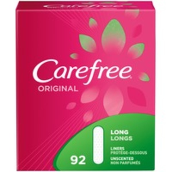 Carefree Original Long Unscented Panty Liners