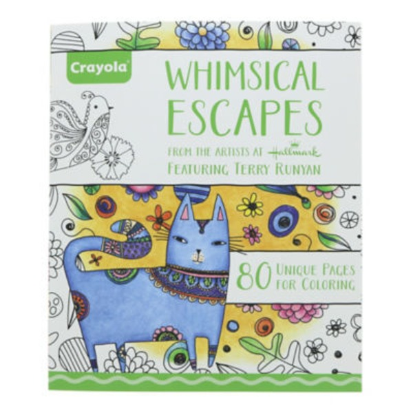 Crayola Whimsical Escapes 80 Page Coloring Book