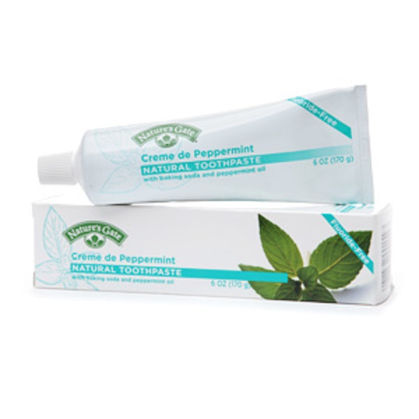 Nature's Gate Toothpaste, Natural, Creme de Peppermint