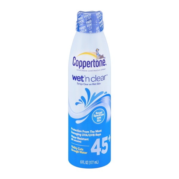 Coppertone Coppertone Sunscreen Continuous Spray Wet 'n Clear SPF 45