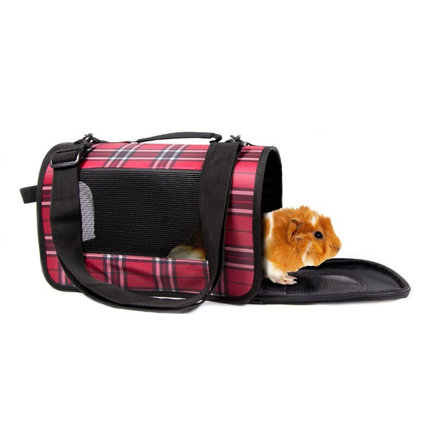 Life's Fur Tas Tic Red Plaid Small Animal Carrier 13