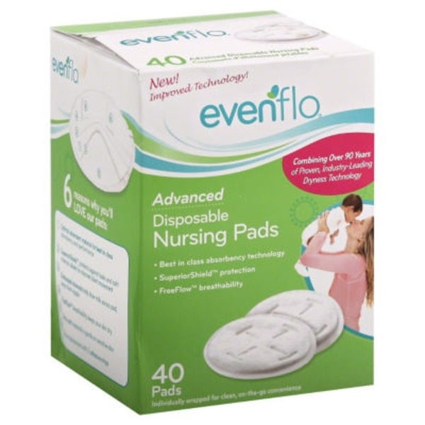 Evenflo Advanced Disposable Nursing Pads - 40 CT