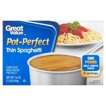 Great Value Pot-Perfect Thin Spaghetti, 16 oz