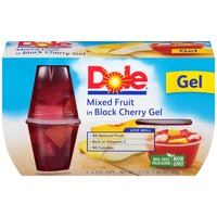 Dole Fruit Bowls Mixed Fruit in Black Cherry Gel