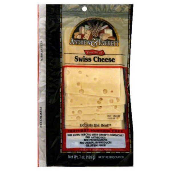 Andrew & Everett Cheese, Thin Sliced Swiss