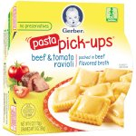 Gerber Pasta Pick-Ups, Beef and Tomato Ravioli Packed in Beef Flavored Broth, 6 oz Tray