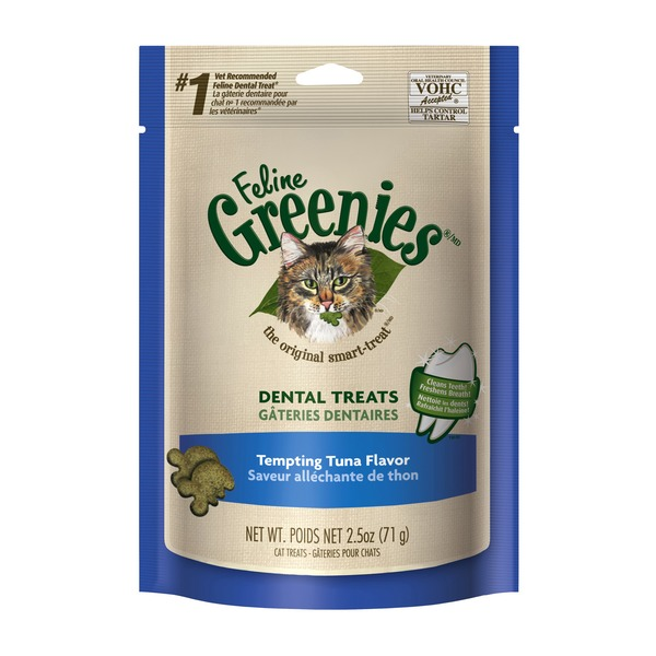 Feline Greenies Dental Tempting Tuna Flavor Cat Treats