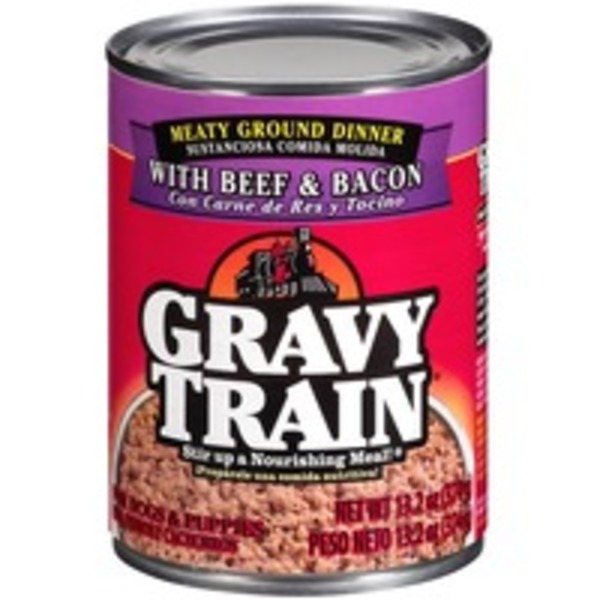 Gravy Train Meaty Ground Dinner with Beef & Bacon Wet Dog Food