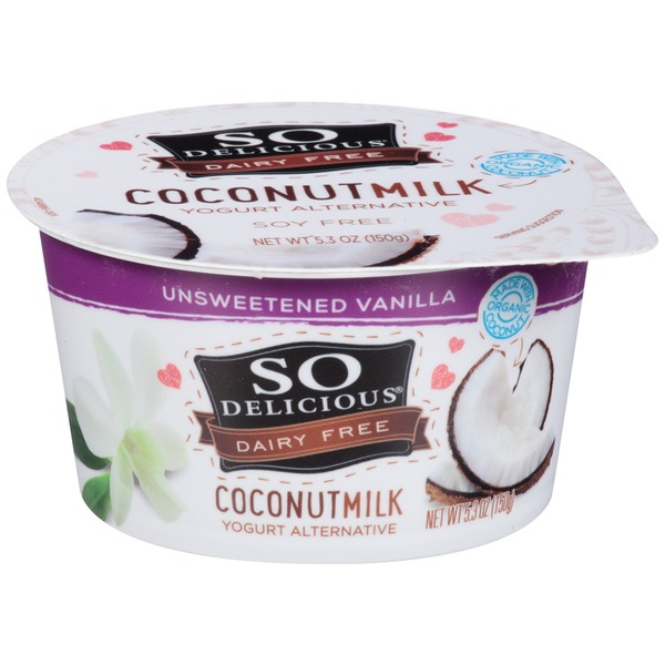 So Delicious Dairy Free Coconut Milk Unsweetened Vanilla Yogurt Alternative