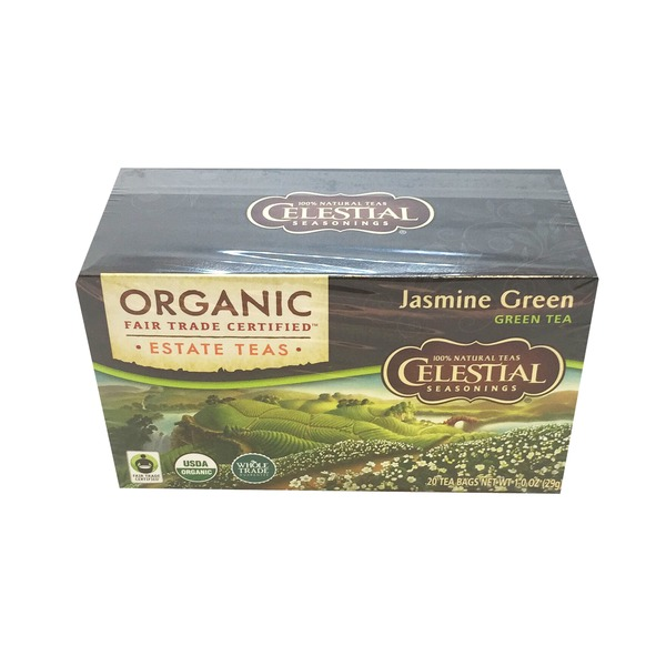 Celestial Bakers Organics Jasmine Green Tea Bags - 20 CT
