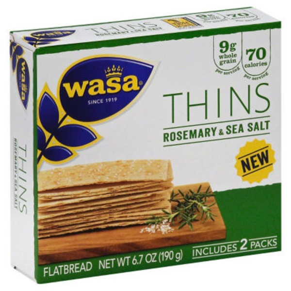 Wasa Thins Rosemary & Sea Salt Flatbread