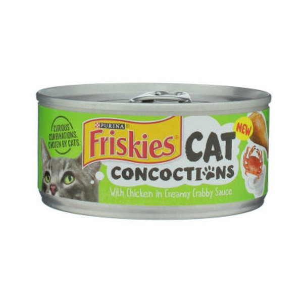 Purina Friskies Cat Concoctions With Chicken in Creamy Crabby Sauce