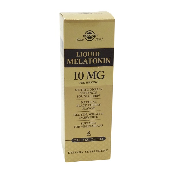 Solgar Liquid Melatonin Natural Black Cherry Flavor
