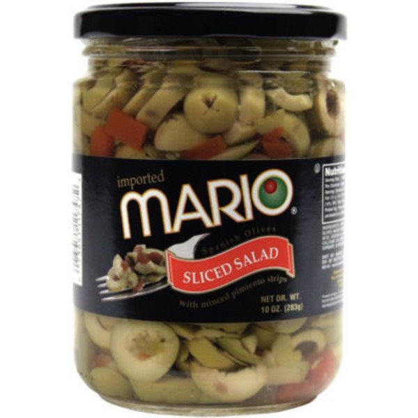 Mario Sliced Salad Olives with Pimiento