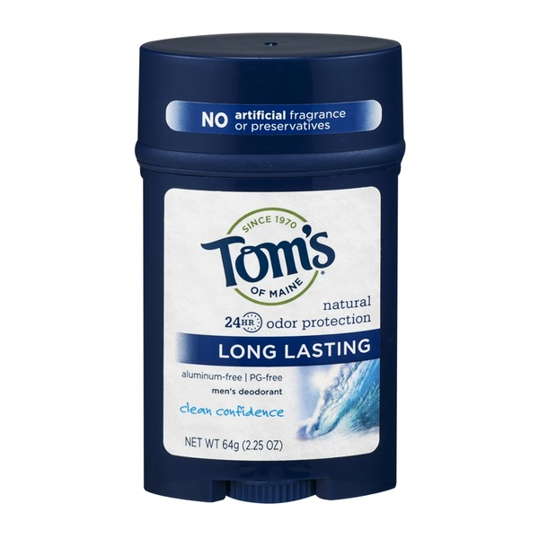 Tom's of Maine Men's Deodorant Clean Confidence