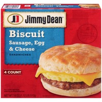 Jimmy Dean Sausage, Egg & Cheese Biscuit Sandwiches
