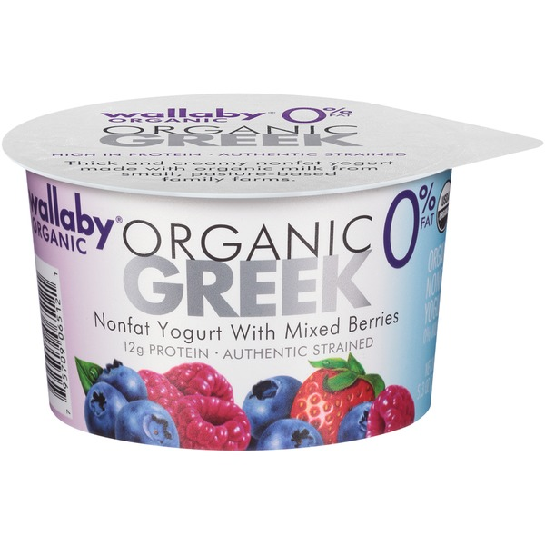 Wallaby Organic Greek Nonfat with Mixed Berries Yogurt