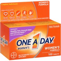 One A Day Women's Multivitamin Supplement Tablets, 100 Count
