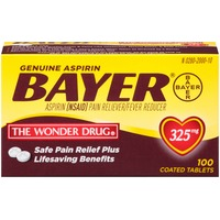 Bayer Aspirin 325mg Coated Tablets Pain Reliever