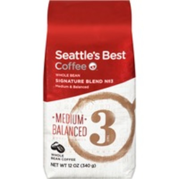 Seattle's Best Coffee Signature Blend No. 3 Medium/Balanced Whole Bean Coffee
