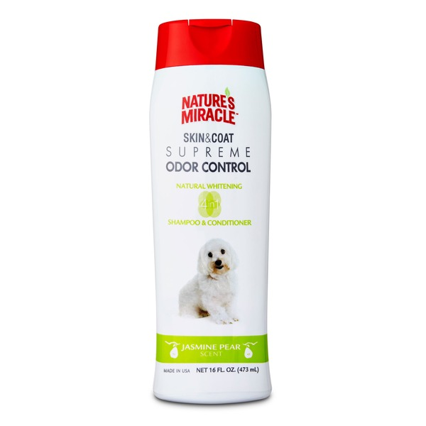 Nature's Miracle Jasmine Pear Supreme Odor Control Natural Whitening Dog Shampoo & Conditioner