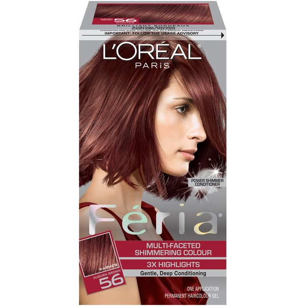 Feria Multi-Faceted Shimmering Colour Auburn Brown 56 Hair Color