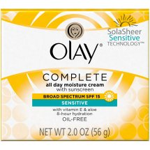 Olay Complete Cream All Day Moisturizer with SPF 15 for Sensitive Skin, 2.0 oz