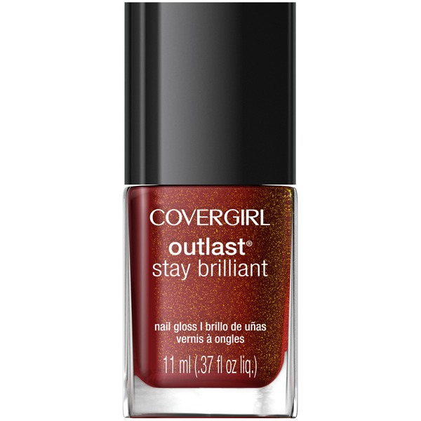CoverGirl Outlast Stay Brilliant COVERGIRL Outlast Stay Brilliant Nail Gloss, Inferno .37 fl oz (11 ml) Female Cosmetics